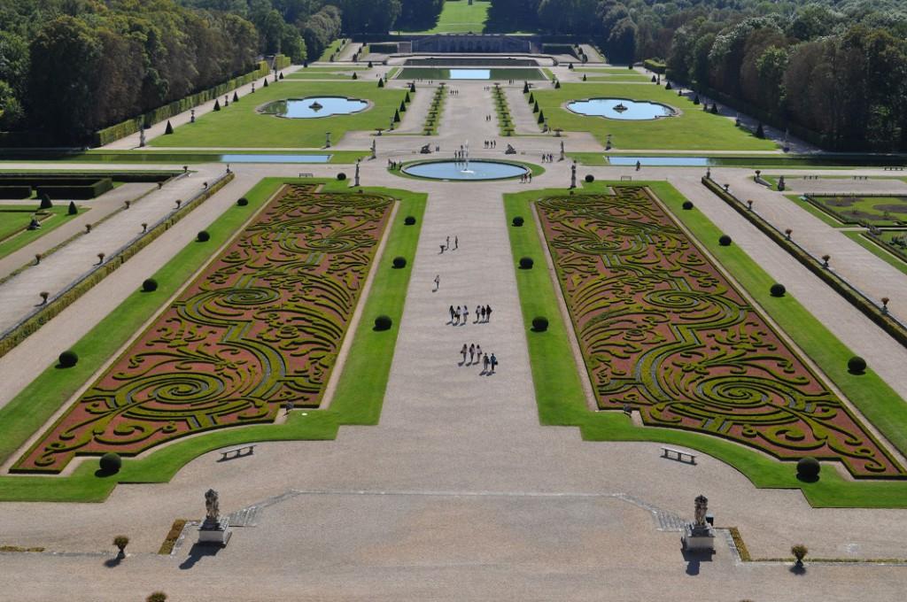 Der Schlosspark von VAUX-LE-VICOMTE